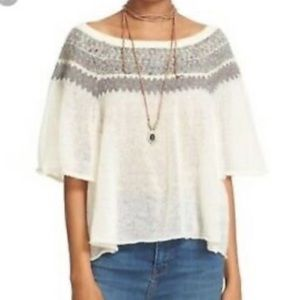Free People Knitted Boho Sweater Top🌸